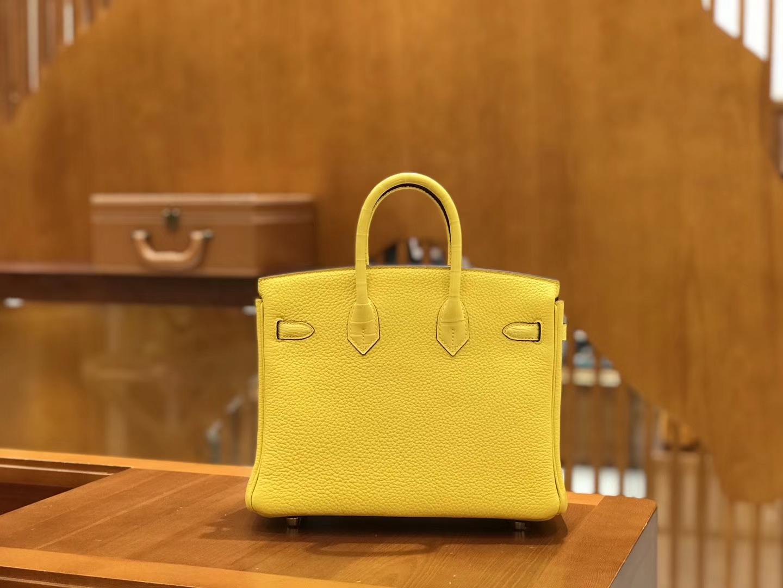 Hermès(爱马仕)Birkin 25cm Touch 那不勒斯黄 鳄鱼皮拼牛皮 全手工缝制