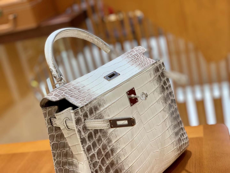 Hermès(爱马仕)Kelly 25cm 雾面 尼罗鳄鱼皮 喜马拉雅 全手工缝制