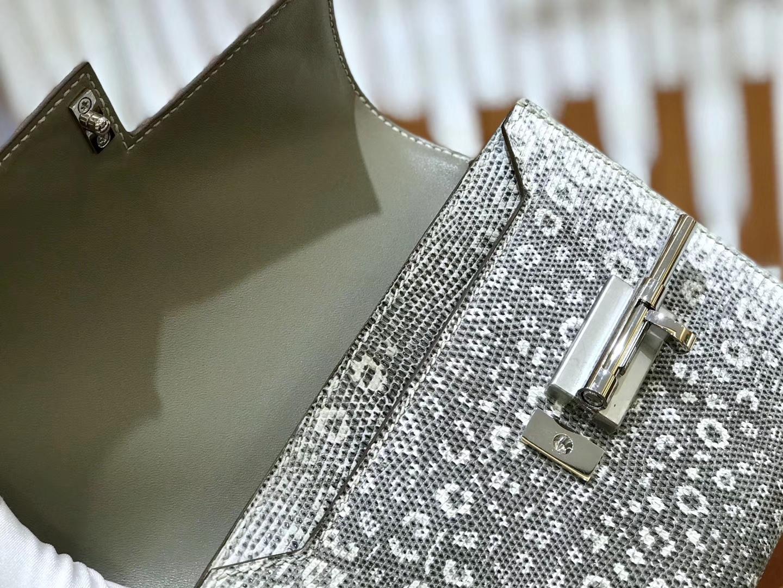Hermès(爱马仕)Verrou 机关枪 17cm 蜥蜴皮 原色 顶级版本 高订现货