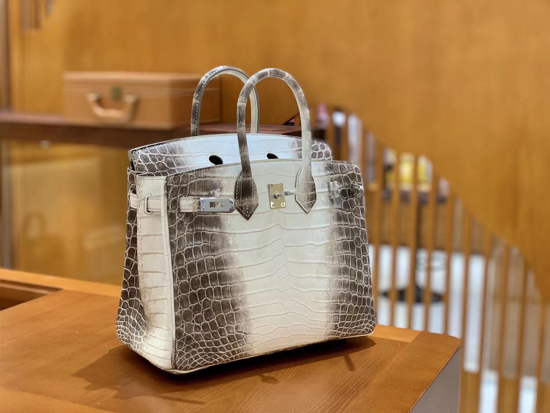 Hermès(爱马仕)Birkin 25cm 特级尼罗鳄鱼皮 喜马拉雅 全手工缝制