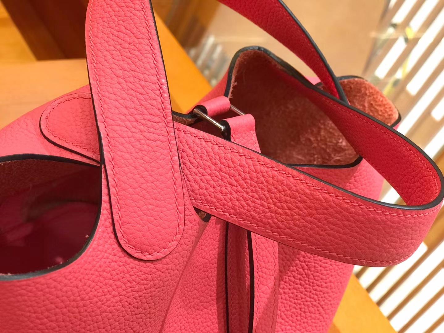 Hermès(爱马仕)Piction 18cm 唇膏粉 银扣 Togo小牛皮 全手工缝制