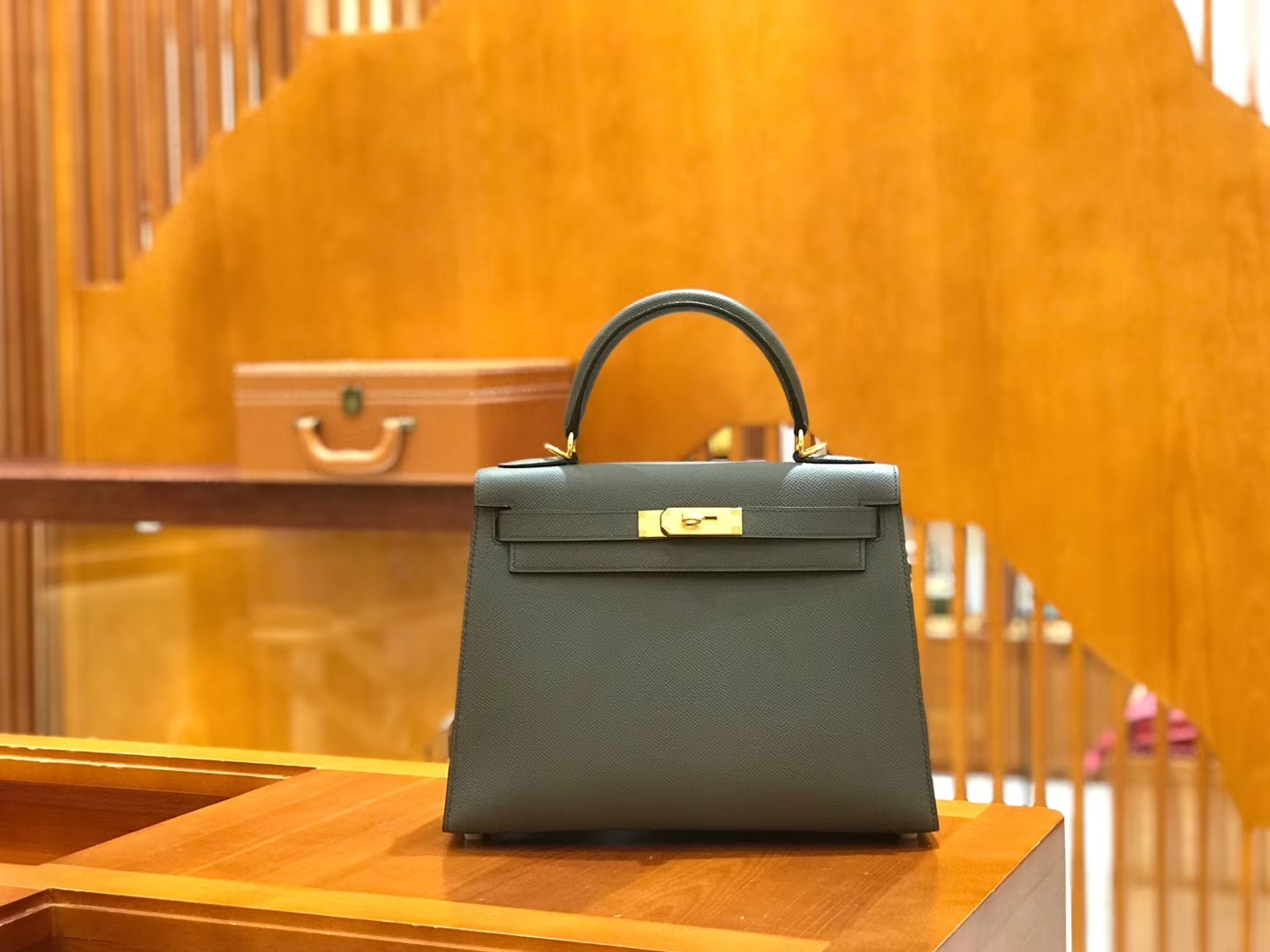 Hermès(爱马仕)Kelly 28cm 锡器灰 掌纹牛皮 全手工缝制