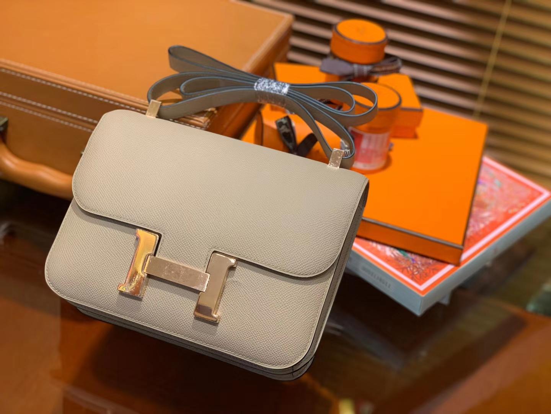 Hermès(爱马仕)Constance 24cm 斑鸠灰 金扣 掌纹牛皮 全手工缝制 现货