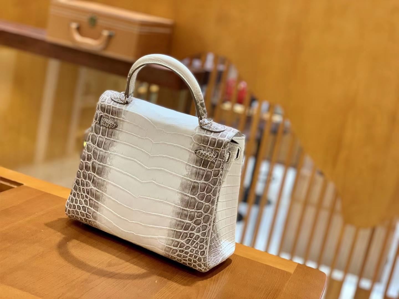 Hermès(爱马仕)Kelly 25cm 喜玛拉雅 哑光 尼罗鳄鱼皮 全手工缝制 现货