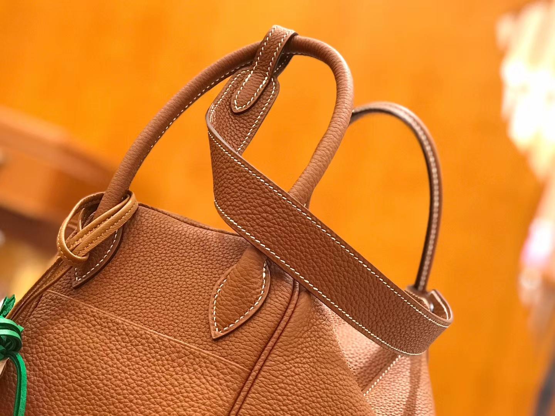 Hermès(爱马仕)Lindy 琳迪包 焦糖棕 Togo牛皮 进口原料 全手工缝制 金扣 26cm